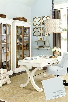 Home office Paint color from the Ballard Designs catalog                                                                                                                                                      More
