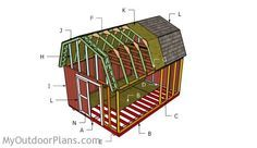 12x16 Gambrel Shed Roof Plans | MyOutdoorPlans | Free Woodworking Plans and Projects, DIY Shed, Wooden Playhouse, Pergola, Bbq