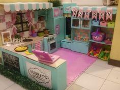 DIY Cardboard box play kitchen
