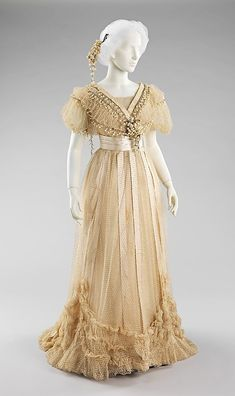 Wedding Ensemble Made Of Silk, Cotton And Beads - Made By Jeanne Paquin - French   c.1910 The Metropolitan Museum of Art