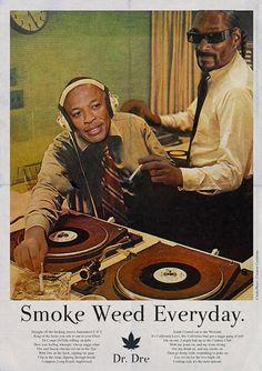 Smoke Weed Every Day en Affiche premium par Ads Libitum Arte Hip Hop, Hip Hop Art, Music Illustration, Illustrations, Snoop Dogg, Vintage Ads, Vintage Posters, Vintage Photos, Daft Punk Poster