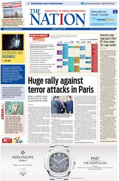 Investors reap huge gains from PP share deals; SEC urges probe -- The NATION Front Page, January 12, 2015