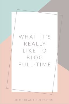 Ever wondered what it's REALLY like to blog full-time? Do full-time bloggers lay out by the pool all day? Do they roll out of bed at 11 AM? Well, sort of. Click through for a glimpse at my daily routine as a full time blogger! BlogBeautifully.com