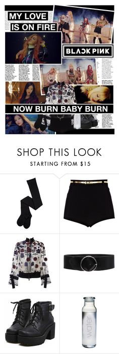 """""""BLΛƆKPIИK - Playing With Fire"""" by anniiebee ❤ liked on Polyvore featuring River Island, Sacai, IRO and botkpg"""