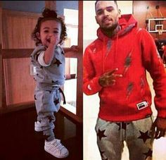 Chris Brown And Daughter Royalty Matching. They So cute!