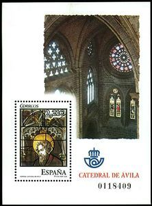 Stained Glass Windows. Avila Cathedral Stamp Collecting, Stained Glass Windows, Postage Stamps, Cathedrals, World, Inspiration, Design, Beautiful, Stained Glass Panels