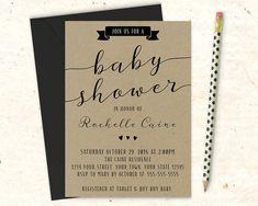 Printable Rustic Baby Shower Invitation / by MaddieMaeCreative