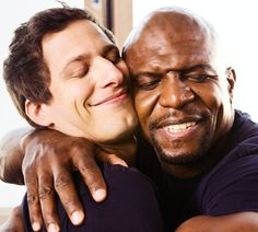 Detective Jake Peralta and Sergeant Terry Jeffords share a moment