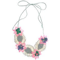 Neon pink necklace ~ Emma Cassi