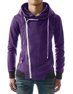 TheLees (LCJ5) Mens Casual Slim Fit Unbalanced Big Hood Cotton Jacket Purple Chest 38(Tag size M) TheLees http://www.amazon.com/dp/B00CBR32PA/ref=cm_sw_r_pi_dp_fZqowb0676QVX