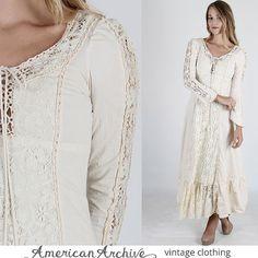 Gunne Sax Dress Gunne Sax Prairie Dress Boho by americanarchive