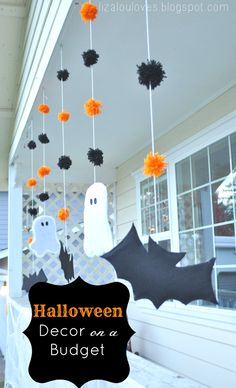 Some simple Halloween decorations to make when you're on a budget.