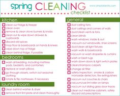 Spring Cleaning Checklist & Free Printable | simplykierste.com