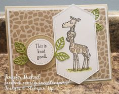 Stampin' Up! Quincy Back on Your Feet: Knot Making Greeting Cards, Greeting Cards Handmade, Stamping Up Cards, Rubber Stamping, Kids Cards, Craft Cards, Get Well Wishes, Stampin Up Catalog, Fancy Fold Cards