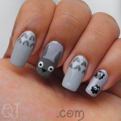 totoro nails. cute!