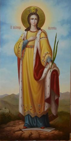 Святая Великомученица Екатерина St Catherine Of Alexandria, Avatar The Last Airbender Art, Blessed Virgin Mary, Orthodox Icons, Medieval Art, Sacred Art, Religious Art, Narnia, Catholic