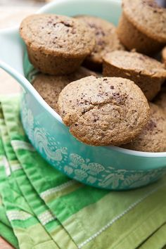 Gluten-free walnut-cacao nib muffins from Shauna Ahern (aka Gluten Free Girl), featured in the Jun/Jul/Aug issue of Where Women Cook Savory Breakfast, Sweet Breakfast, Breakfast Recipes, Egg Free Recipes, Muffin Recipes, Healthy Recipes, Wheat Belly Recipes, Cacao Nibs, Us Foods