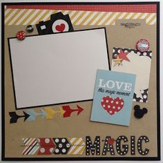 simple scrapbook page layouts - Google Search