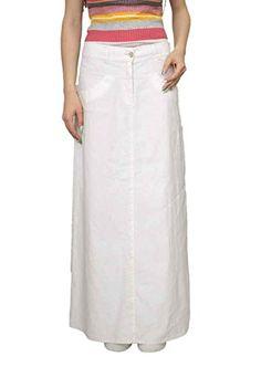 774cdb3569 Souvenir-Fashion New Ladies Office Boutique Full Length Maxi Long Pencil  Straight White Linen Skirt 8 10 12 14 16 18 20 22 (12)