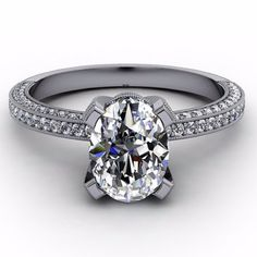 Oval Forever Brilliant Moissanite Engagement Ring - Covered In Love