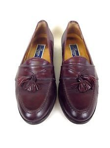 Bragano Shoes Leather Burgundy Cole Haan Slip on Italy Tassel Loafers Mens 9 5 M   eBay