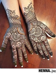 Henna Ideas As a finalist in our annual mehndi contest this super talented artist brings us amazing designs! Henna Tattoo Designs Simple, Latest Bridal Mehndi Designs, Full Hand Mehndi Designs, Mehndi Designs Book, Mehndi Designs For Girls, Mehndi Designs For Beginners, Mehndi Design Photos, Mehndi Designs For Fingers, Latest Mehndi Designs