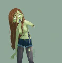 Zombie girl 1, Margaux Saltel on ArtStation at http://www.artstation.com/artwork/zombie-girl-1