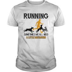 Running with my BOXER dog T-shirts