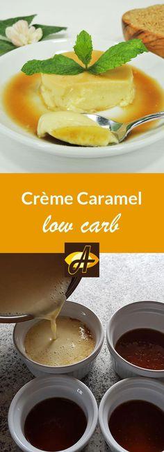 Rezept Crème Caramel Low Carb Glutenfrei -  Unglaublich sanfte Creme mit aromatischer Karamellsauce - und das absolute zuckerfrei!