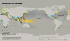 Plastic input to the oceans - Vivid Maps