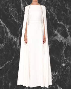 Reem Acra is a renowned international designer known for her breathtaking collections in Ready-to-Wear and Bridal. Minimalist Gown, Minimalist Chic, Minimal Wedding Dress, Aisle Style, Reem Acra, Cape Dress, Feminine Style, Feminine Fashion, Dream Dress