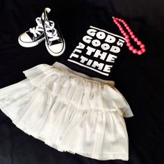 GOD IS GOOD all the time unisex children t-shirt/chandail pour Christian Clothing, God Is Good, Kids Wear, Cheer Skirts, Ballet Skirt, Unisex, Children, How To Wear, T Shirt