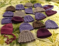 hats I made in Hawaii for clickforbabies.com 2014