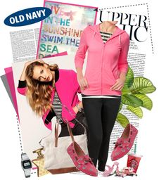 """""""Casually Chic with the Old Navy Tee Hoodie"""" by limass ❤ liked on Polyvore"""