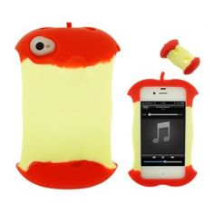 Case-Max Apple Core Shape Silicone Gel Case for iPhone 4/4S
