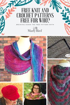 Free Knit Patterns, Free Crochet Patterns, Free for Who? Crochet Patterns For Beginners, Knitting For Beginners, Knitting Patterns Free, Knit Patterns, Free Pattern, Knit Or Crochet, Lace Knitting, Free Crochet, Crochet Blogs