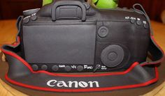 Making a Camera Cake | Canon 5D Camera Cake with a 'touch of nature' - by Cake Creations By ...