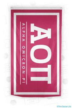 Alpha Omicron Pi Standard Flag