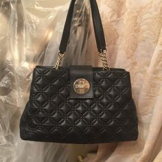 Kate Spade handbag Kate Spade leather beautiful black handbag, very clean inside perfect and clean. kate spade Bags Hobos