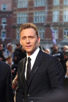 """the-haven-of-fiction: """" ball-of-wool: """"My photos of Tom Hiddleston at the High Rise premiere during London Film Festival """" So gorgeous. Tom Hiddleston Girlfriend, Tom Hiddleston Gentleman, Tom Hiddleston Funny, Chris Hemsworth, Thor, Girls Toms, Elisabeth Moss, London Film Festival, London Films"""
