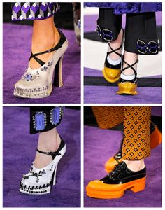 Sea of Shoes: YOU CAN ALWAYS COUNT ON PRADA... ...to do something different. The shoes for fall 2012.