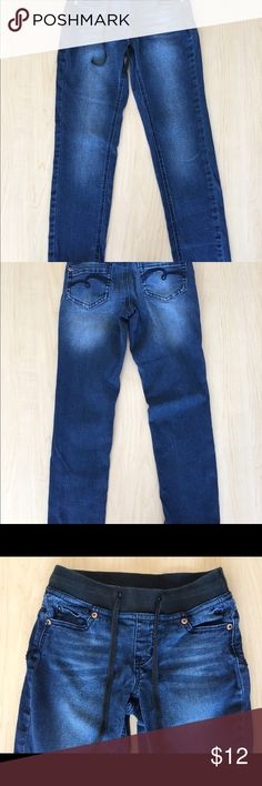 Justice Jeans Girls Justice jeans size 8R.  Elastic waist band.  In great condition and not worn out. Justice Bottoms Jeans