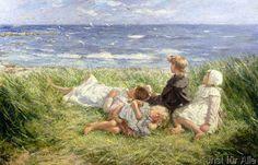Robert Gemmell Hutchinson - Sea Gulls and Sapphire Seas, 1912