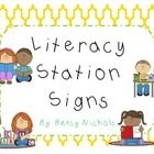 This is a free set of Literacy stations or centers signs.  There is also a checklist included if you would like to give your students more choice i...