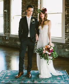Industrial indoor wedding