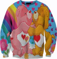 Care Bears Sweater Crewneck Sweatshirt by YeahWhateverz on Etsy, $59.87. I would so wear this.