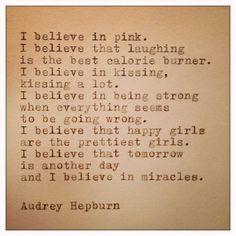 Audrey Hepburn Quote Typed on Typewriter via Etsy