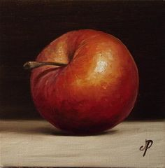 Little Red Chief Apple - Original Fine Art for Sale - © Jane Palmer
