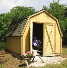 Shed plans with front and back door