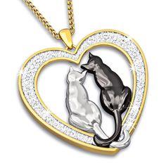 Purr-fect Love Diamond Pendant - The Danbury Mint